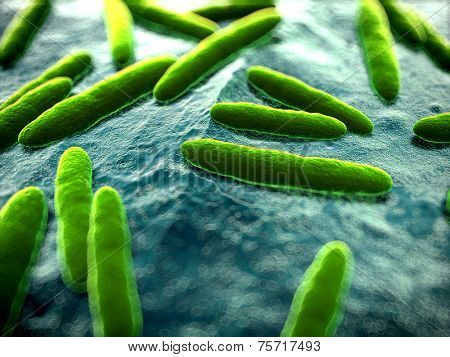 3d rendered scientific illustration of some bacteria
