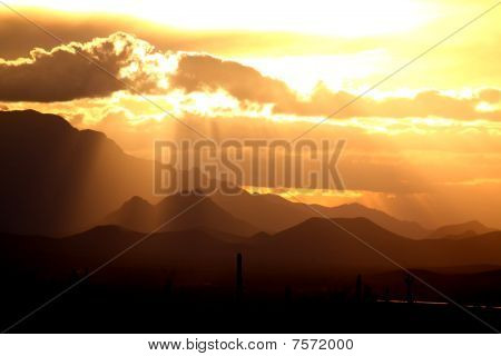 Desert Mountains Sunset