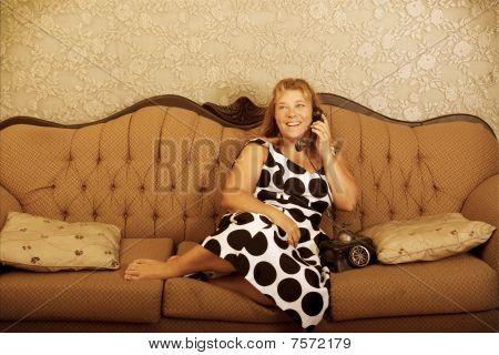 Vintage Woman On Telephone