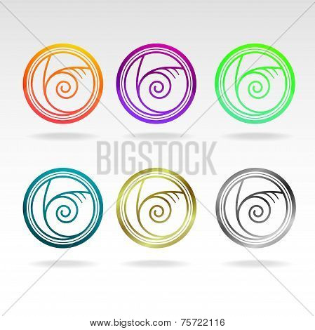 shell icon colours set