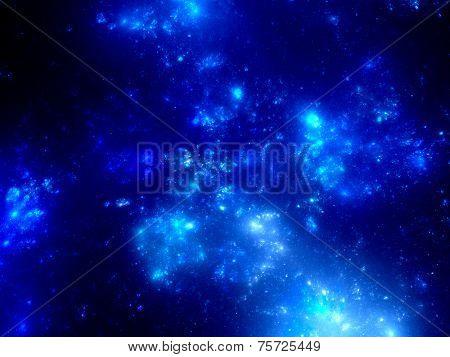 Blue Clusters In Deep Space