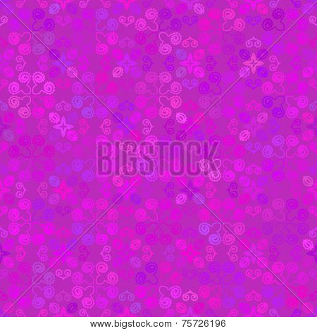 Abstract background Magenta hand drawn delicate seamless ornament