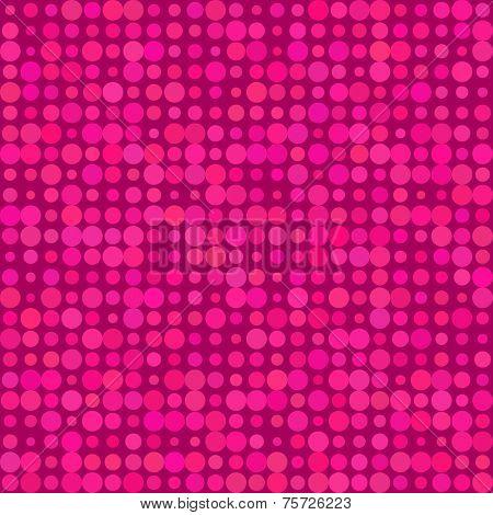 Abstract background Magenta polka dots seamless