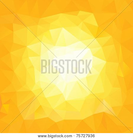 Vector Polygonal Background Yellow Sun