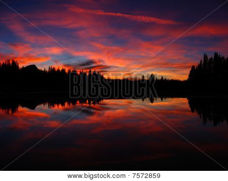 Vivid Tuolumne Sunset