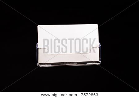 Card holder on black background