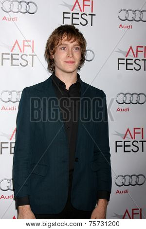 LOS ANGELES - NOV 8:  Caleb Landry Jones at the AFI FEST 2014 Photocall at the TCL Chinese 6 Theaters on November 8, 2014 in Los Angeles, CA