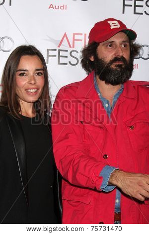 LOS ANGELES - NOV 8:  Elodie Bouchez, Quentin Dupieux at the AFI FEST 2014 Photocall at the TCL Chinese 6 Theaters on November 8, 2014 in Los Angeles, CA
