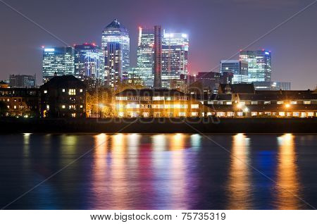 London, Canary Wharf View From Greenwich