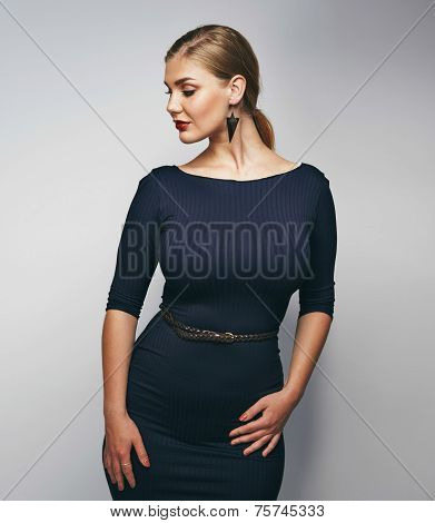 Plus Size Young Woman Posing Confidently