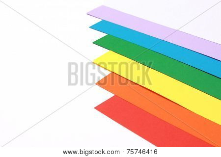 Rainbow coloured paper