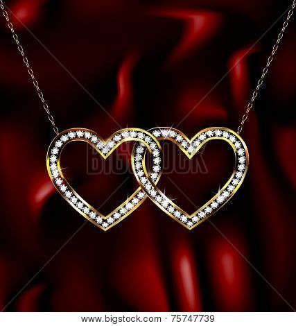 two jewelry hearts