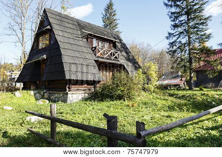 Small Building With The Sloping Roofs, Zakopane