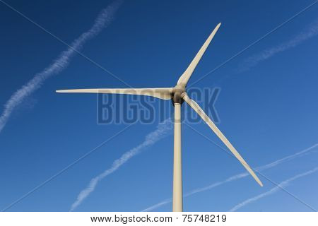 Wind Turbine In The Loire Valley, Centre, France