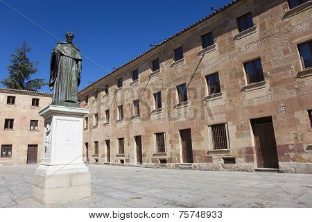 Sculpture Of Fray Luis De Leon, Salamanca, Castilla Y Leon, Spain
