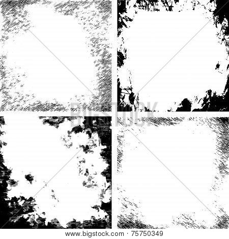 Vector Abstract Grunge Cracked Texture