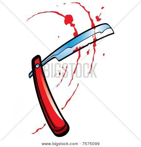 Straight Razor and blood