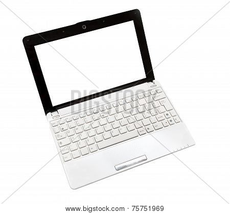Netbook On The White Background