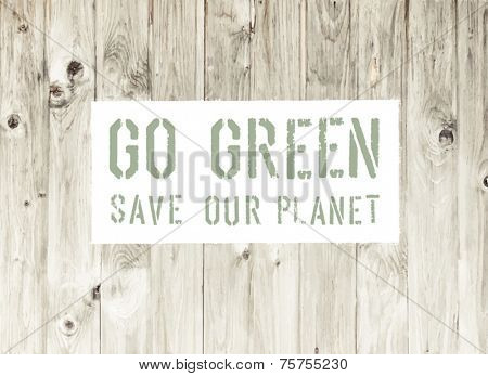 Go Green Abstract Ecology Poster