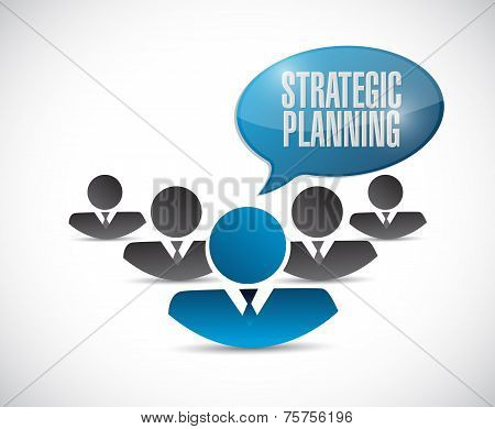 Strategic Planning People Team Sign