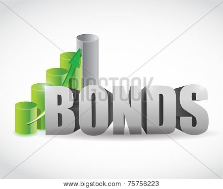 Bonds Sign Business Graph Illustration