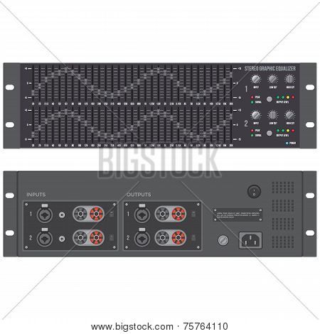 stereo graphic professional equalizer device