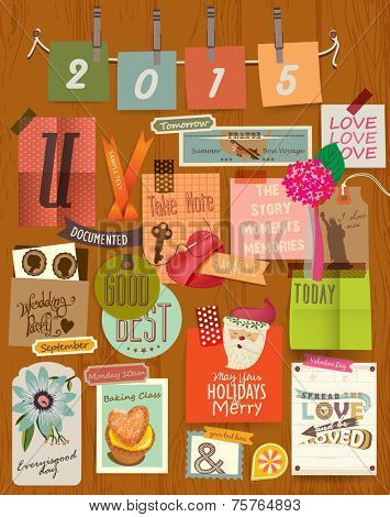 Vector Illustrator Elements Message board & Note board