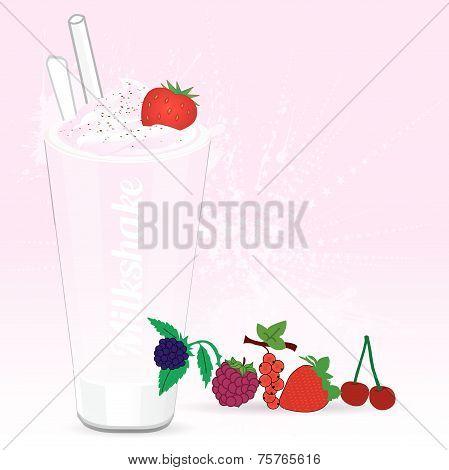Milkshake red fruits