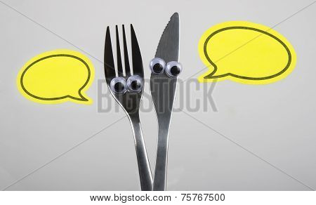 Funny fork and knive