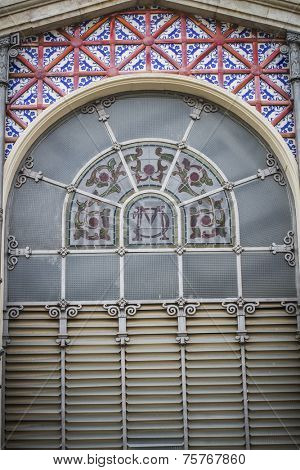 Central Market, Spanish city of Valencia, Mediterranean architecture