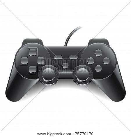 Game Controller Isolated On White Vector