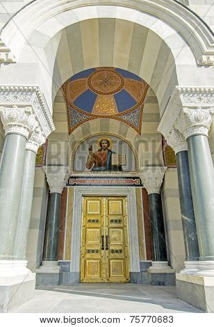 entrance to Cathedral 4 admirals in Sevastopol