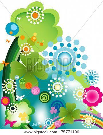 abstract colorful joyful springtime design