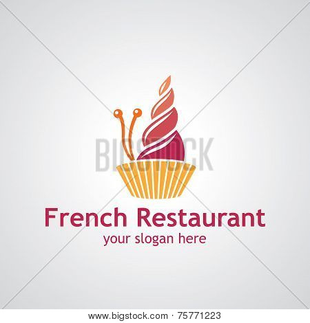 French Restaurant Vector Logo Design