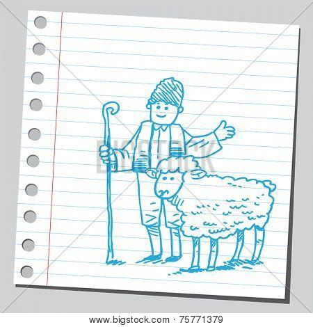 Shepard and sheep