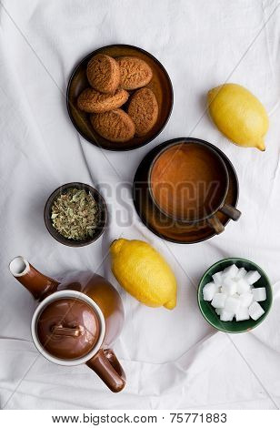 Preparing Linden Tea