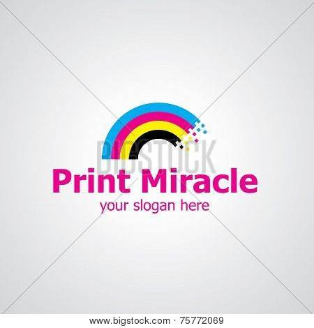 Print Miracle Vector Logo Design
