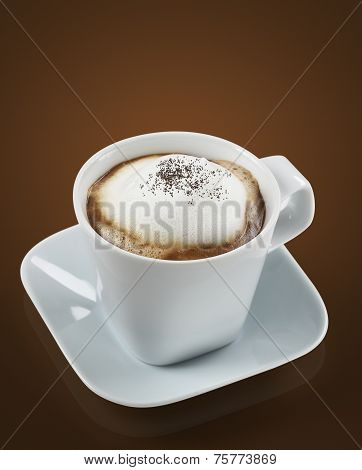 White Cup Of Cappuccino