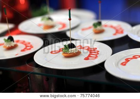 Carrot Cream Canape