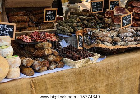 Sausages In A French Market
