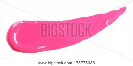 Lip gloss isolated on white