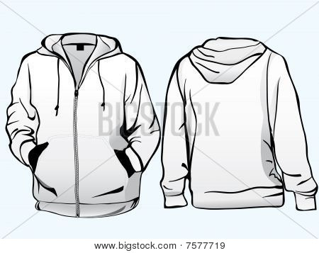 Jacket or sweatshirt  template