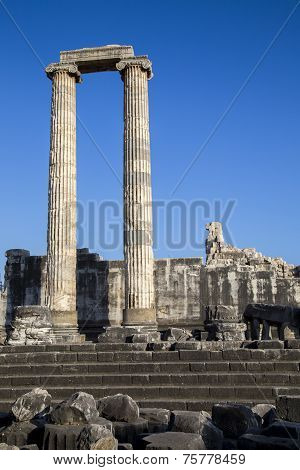 Hystorical Column Of Apollo Ancient City In Didyma Turkey 2014