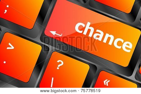 Chance Button On Computer Pc Keyboard Key