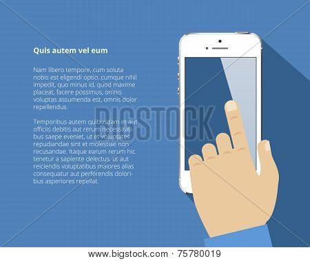 Smart phone with hand