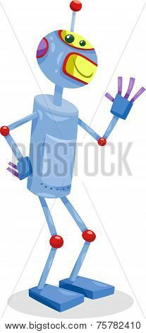 Fantasy Robot Cartoon Illustration
