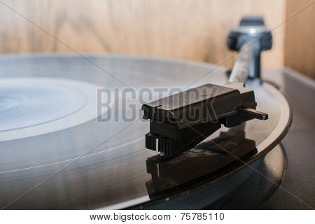 Record On A Retro Record Player