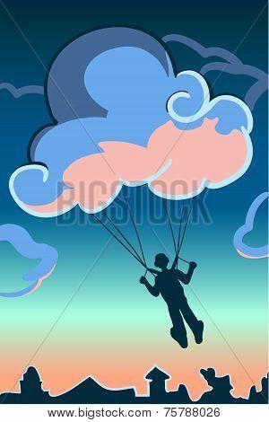 Cloud-parachute