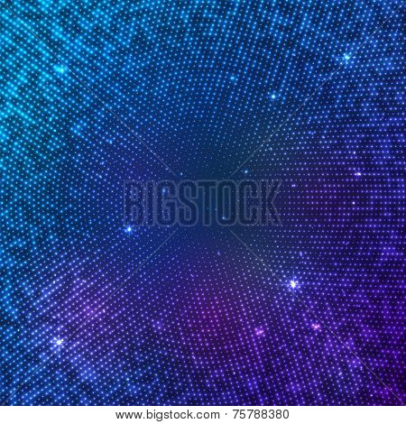 Blue space vector stars abstract background