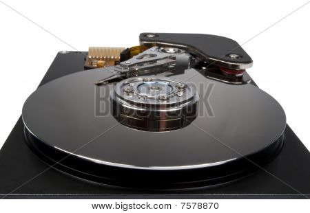 Internals Of A Harddisk Hdd Isolated On White